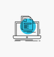 account laptop report print resume line icon vector image