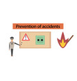 Assembly flat icons safety lessons