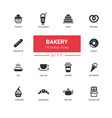 bakery concept - line design icons set vector image