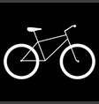 bicycle the white color icon vector image vector image