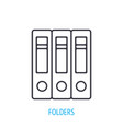 binder folders with documents outline icon vector image
