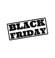 black friday grunge painted on white eps 10 vector image vector image