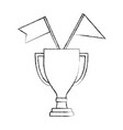 business trophy flags awards winner champion vector image vector image