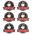 Buy 1 Get 1 Free retro grunge badges set vector image