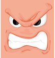 Cartoon comics face vector image vector image