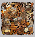 cartoon doodles coffee house vector image