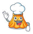 chef satin pleated skirt on isolated mascot vector image