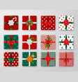 christmas boxes design set vector image vector image