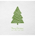 Christmas greeting card with hand drawn stylized vector image vector image
