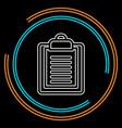 clipboard with checklist icon vector image vector image