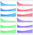 Colorful web business header footer banner set vector image vector image