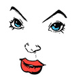 Comic cartoon comic book face