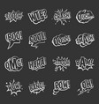 comic colored sound icons set grey vector image vector image