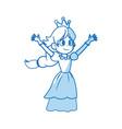 comic princess fairy tale character image vector image