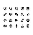 communication glyph icons vector image vector image