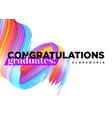 congratulations graduates class of 2018 logo vector image