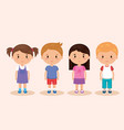 cute and little kids group vector image