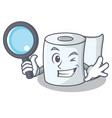 detective tissue character cartoon style vector image vector image