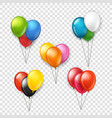different color rubber balloons groups clipart vector image vector image