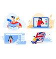 distance education vector image