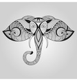 Doodle Elephant Tattoo Style vector image vector image