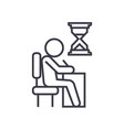 examing test writing man at desk linear icon vector image