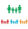Family sign Colorfull set vector image