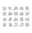 financial analytics related line icons vector image