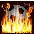 flames and Soccer ball vector image vector image