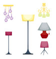 flat electric lantern lamp lights fitting vector image