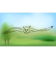 Flying owl with outstretched wings vector image vector image