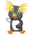 funny king penguin cartoon vector image
