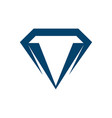 geometric diamond logo template with blue color vector image