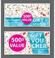 gift voucher certificate coupon vector image vector image