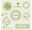 Green grunge rubber stamp set vector image vector image