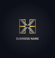 h x initial business gold logo vector image vector image