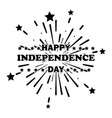 happy independence day text over fireworks vector image