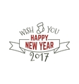 Happy New Year typography wish sign vector image vector image