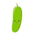 happy smilling cute cucumber modern flat style vector image vector image
