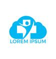 health medical cloud shape logo design vector image vector image