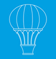 hot air balloon with basket icon outline style vector image vector image