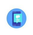 humidity control mobile app icon vector image vector image