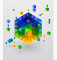 isometric colorful web template vector image