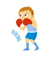 kinds of sports athlete boxing vector image vector image