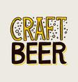 label craft beer template emblem or logo vector image