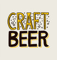 label craft beer template emblem or logo with vector image