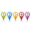 location number pins vector image vector image