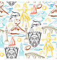 new zealand seamless pattern vector image vector image