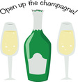 Open Champagne vector image vector image