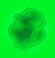 papercut green multi layer gradient background vector image